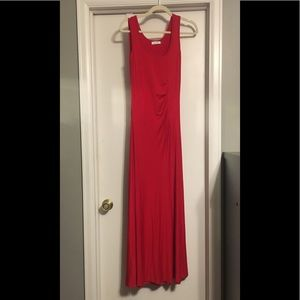 Calvin Klein Red fitted Maxi dress